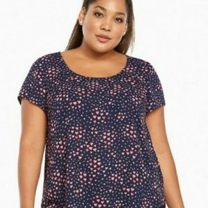 Torrid blouse with hearts 1X